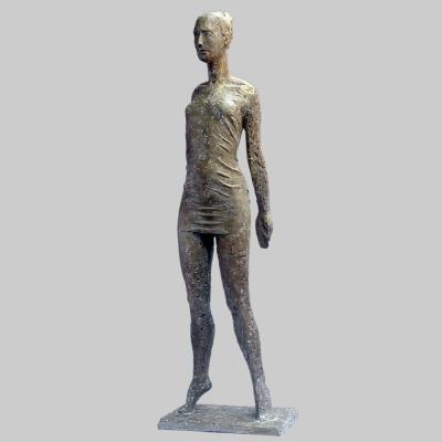 Angelika Kienberger, Tension, 2008, bronze, 25.2 by 7.7 by 5.1 in.