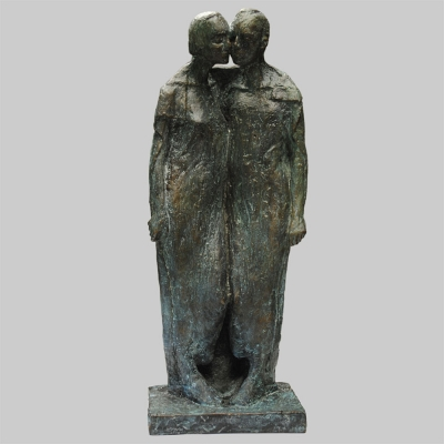 Angelika Kienberger, Couple, 1992, bronze, 16.5 by 5.9 by 5.1 in.