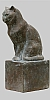 Angelika Kienberger, Small cat, 2004, bronze, 9.4 by 4.3 by 3.1 in.