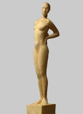 Angelika Kienberger, Solo, 2010, Linde, 142x9x12 cm