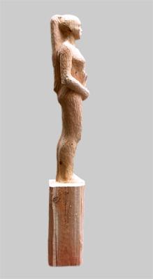 Angelika Kienberger, Zwischen den Zeilen, 2011, Zedernholz, 51.2 by 9.8 by 9.8 in.