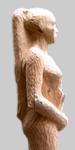 Angelika Kienberger, Zwischen den Zeilen, 2011, Zedernholz, 130x25x25 cm