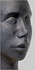 Angelika Kienberger, Head, 2010, steatite, 9.1 by 6.7 by 4.7 in.