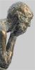 Angelika Kienberger, In Gedanken, klein , 2006, Bronze, 10x4,5x10 cm