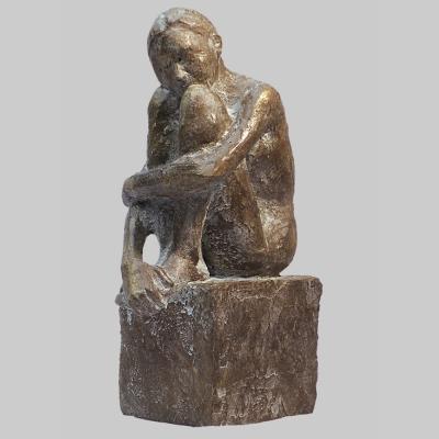 Angelika Kienberger, Kleine Kauernde, 2006, Bronze,   14x7,5x4,5  cm