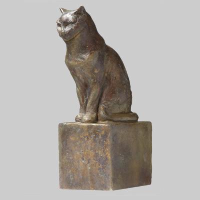 Angelika Kienberger, Kleine Katze, 2004, Bronze, 24x11x8  cm