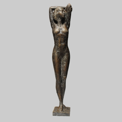 Angelika Kienberger, Relaxed , 2013, bronze, 19.3 by 3.9 by 2.8 in.