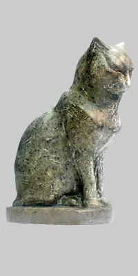 Angelika Kienberger, Cat, 2009, steatite, 6.7 by 5.5 by 3 in.